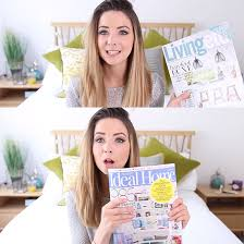 In Her July Favourites Zoella Divulged Love Of Homes And Interiors Magazines Gave Two Our Very Own A Shout Out Ideal Home Livingetc