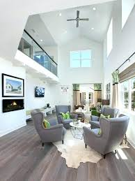 Grey Floor Living Room Excellent Modern Ideas With White Color