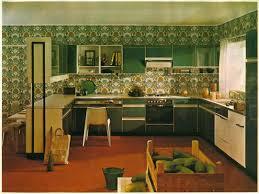 Nice Green 1970s Kitchens