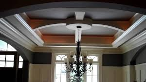 Custom Ceiling Designs Dining Room With A Designed Trey Youtube Lighting