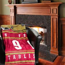 San Francisco 49ers 60 X 80 Stacked Silk Touch Plush Blanket