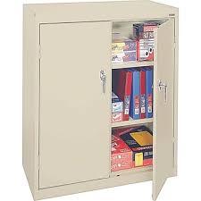 sandusky 42 h deluxe steel welded storage cabinet putty