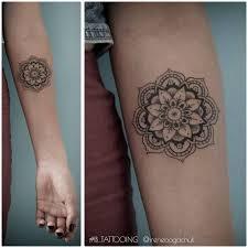 Cute Mandala Forearm Tattoo Artist Irene Bogachuk IB TATTOOING Irenebogachuk