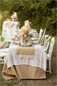 Outdoor Rustic Burlap Wedding Reception Ideas