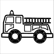 Fire Truck Clipart Black And White ✓ All About Clipart