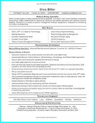 Billing Specialist Resume Resumes Medical Objective Insurance Cover Samples And Coding For