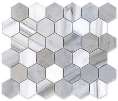 2 inch hexagon polished finish marble tile mosaic verona