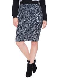 printed scuba pencil skirt women u0027s plus size skirts eloquii