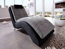 liege relaxliege benformato varese schwarz grau inkl kopfkissen