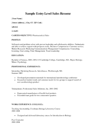 Entry Level Medical Sales Resume Samples Unique For Jobs Profile Examples