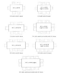 Table Length Standard Dining Sizes Room