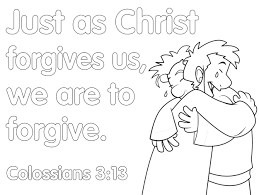 Drawing Forgiveness Coloring Pages
