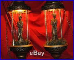 Hanging Swag Oil Rain Lamp by Pair Roman Goddess Lady Rain Oil Lamp Hanging Swag Light