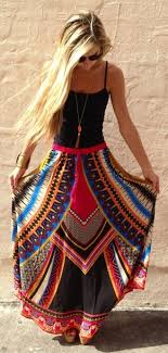 Skirt Boho Bohemian Hippie Fashon Love Outfit Gypsy Summer Beach Maxi Tribal Pattern Dress