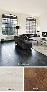 Modren Room Make A Bold Statement With The Midnight Slate Sleek Black Luxury Vinyl Floor Tile That Is Great For Any And Living