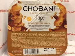 Crazy Food Dude Review Chobani flip Peanut Butter Dream Greek Yogurt