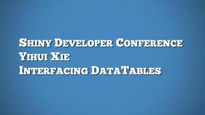 Interfacing DataTables – RStudio