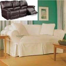 Dual Reclining Sofa Slipcover by White Recliner Slipcover Foter