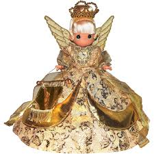 Precious Moments Christmas Dreams Angel Tree Topper Doll Blonde