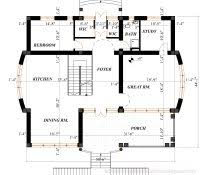 American Foursquare Floor Plans Modern by House Plans With Detached Garage In Back Craftsman Four Square