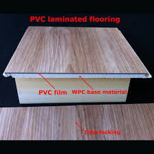 Waterproof Laminate Flooring For Your House Design China 7mm Popular WPC PVC Laminated