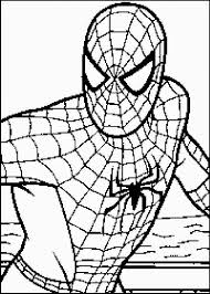 Pin Spiderman Clipart Easy Coloring 13