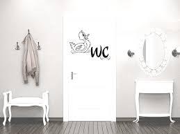 türaufkleber wandtattoo tür deko spruch badezimmer ente wc