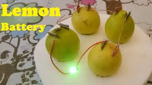 how to glow led using lemon lemon battery