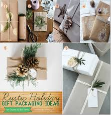 Homemade Christmas Packaging For Boxed And Flat Items Rustic Gift