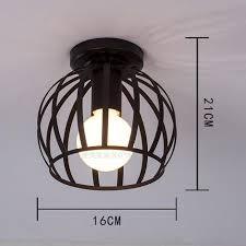 retro deckenleuchte vintage industrial style design deckenle loft beleuchtung in schwarz cage innen eisen für dekoration cafe restaurant küche