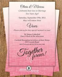 Vow Renewal Invitation Together Forever Anniversary Milestone 10th 20th 25th 40th 50th Digital Printable Invite W1484