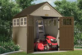 Rubbermaid Slide Lid Shed Manual by Amazon Com Suncast Bms7775 7 1 2 Feet By 7 Feet Alpine Shed