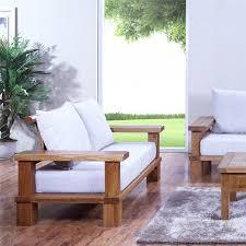 Huayi Furniture Solid Wood Oak Sofa Fabric Combination Of High Density Foam Cushion