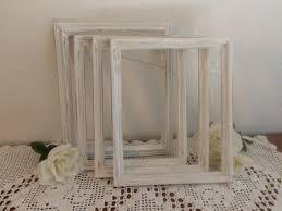 Shabby Chic Wedding Decorations Uk by Distressed White Frame Rustic 8 X 10 Shabby Chic Wedding Decor