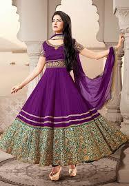 4difrent Purple Anarkli Suit