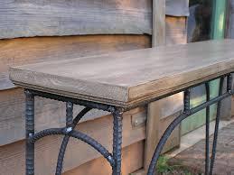 Rustic Sofa Table White Custom