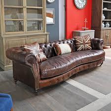 canapé cuir vieilli canape chesterfield dialma brown jpg