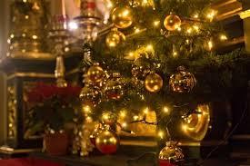 Details Of Christmas Tree In Old Polish Catholic Church Stock Photo