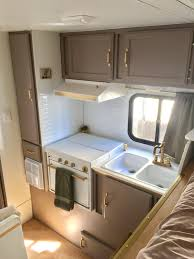 Camper Interior Decorating Ideas by Truck Camper Trailer Remodel Before And After Insta Sara Truck