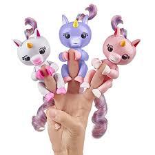3 Colors Fingerlings Interactive Baby Unicorn GIGI