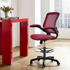 Lexmod Edge Office Drafting Chair by Veer Drafting Chair In Black Lexmod