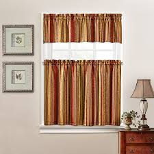 Window Art Tier Curtains And Valances by Amazon Com Traditions By Waverly 14317052036oyx Stripe Ensemble