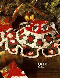 17 Best Images About Crocheted Tree Skirts On Pinterest
