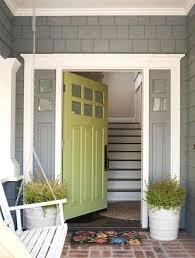 Entry Doors Sidelites Green Front Door With Grey Sidelights