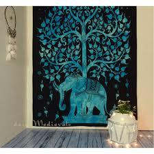 Blue Tie Dye Bedding by Tree Of Life Tie Dye Tapestry Blue Turquoise Hipie Elephant