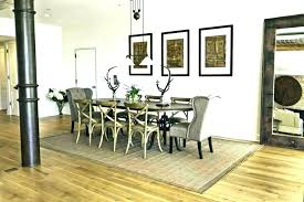 Rug Under Dining Room Table Area How Should An Fit A