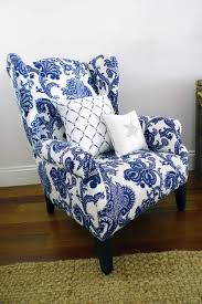 remarkable regency living room accent chair blue and white