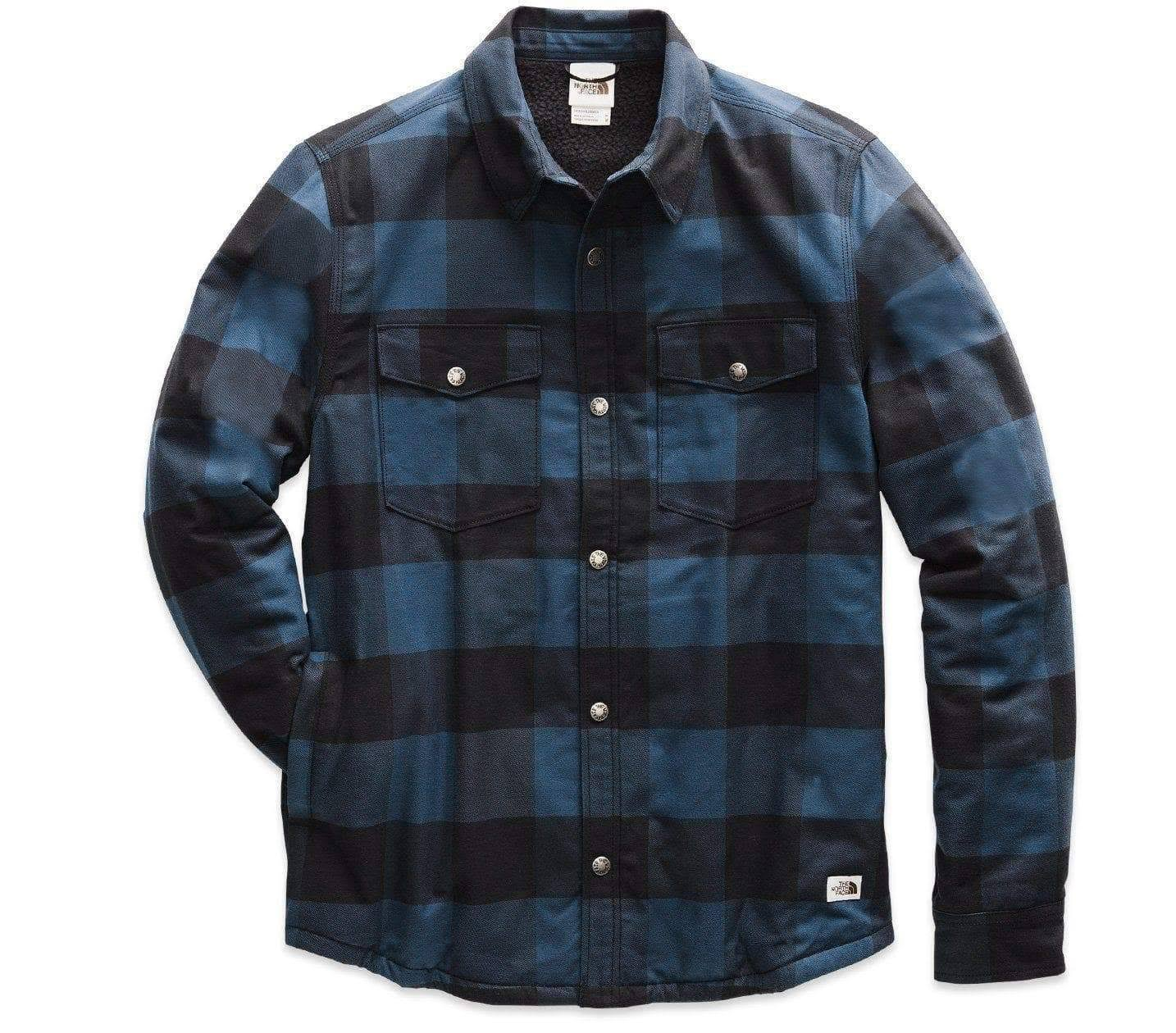 The North Face Men's Campshire Shirt - Blue Wing Teal Buffalo Plaid Print