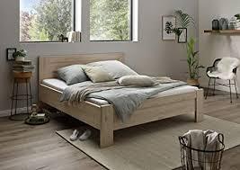 wiemann athen bett bettgestell 180 x 190 cm doppelbett komforthöhe futonbett holz eiche hell steineiche