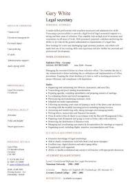 Legal Secretary Cv Sample Rh Dayjob Com Curriculum Vitae CV Examples